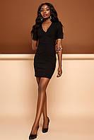 Стильное Короткое Платье из Стрейч Джинса Черное S-XL, фото 1