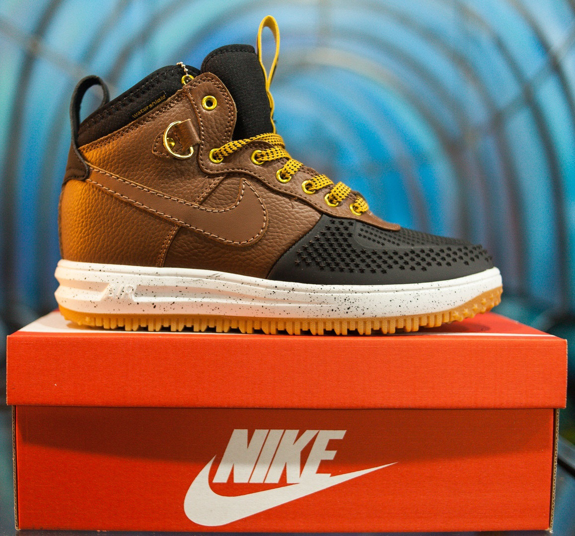 084b2898 Кроссовки Nike Lunar Force 1 Duckboot brown без меха (Реплика ААА+) -  Интернет