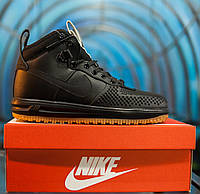 Кроссовки Nike Lunar Force 1 Duckboot black без меха (Реплика ААА+)
