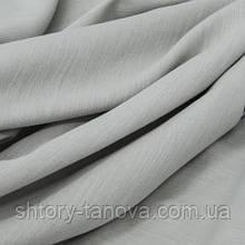 Декоративная ткань для штор, однотонная, лён 278, хлопок 65%, лен 35%, серый