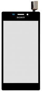Тачскрин сенсор Sony D2302 S50h Xperia M2 Dual, 2303, D2305, D2306 черный (HQ)
