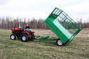 Прицеп одноосный для мини - трактора. Самосвал., фото 2