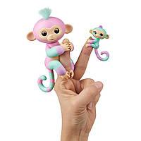 WowWee Fingerlings Интерактивная ручная обезьянка с малышкой Ashley Chance Baby Monkey Mini Bffs Interactive