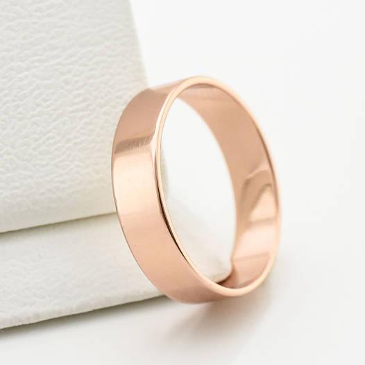 Кольцо обручальное Американка 10709 размер 18, ширина 5 мм, позолота ... 41949194abe