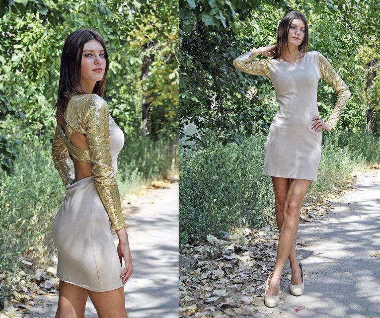 5e891cdf498a Женское платье с красивой спинкой 40 - RUSH.OPT Женская одежда, косметика,  аксессуары