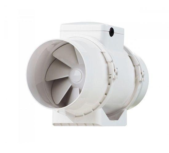 Круглый канальный вентилятор Вентс ТТ 125 СТ серо-голубой