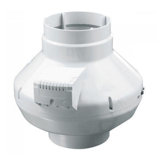 Круглый канальный вентилятор Вентс ВК 200 чёрный (бурый короб)