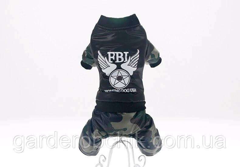 """Комбинезон  для собаки """"ФБР Байкер"""". Одежда для собак"""