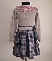 Детское платье для девочек от 4 до 8 лет с кружевным воротником, фото 1