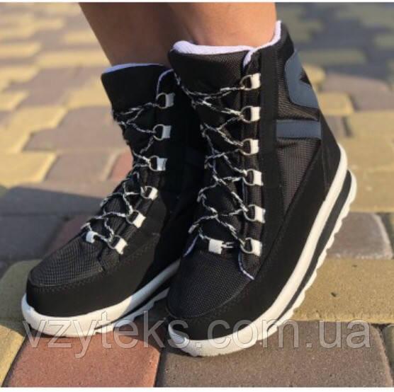 Купить Сникерсы зимние черные женские модные Украина оптом ... 4cebd20899c01