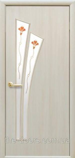 Дверь Лилия Р1 стекло сатин