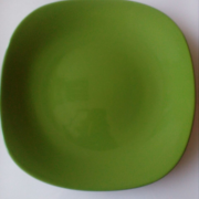 Мілка тарілка квадратна зелена 260 мм. CESIRO кераміка