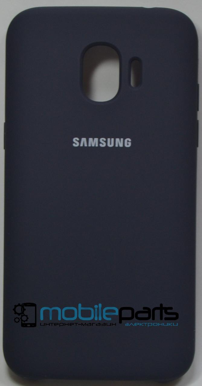 Силиконовый Чехол для Samsung Galaxy J2 2018 J2 Pro J250F Silicone Case (Темно-синий)