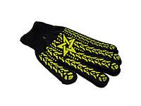 Перчатки черные звезда (12пар)