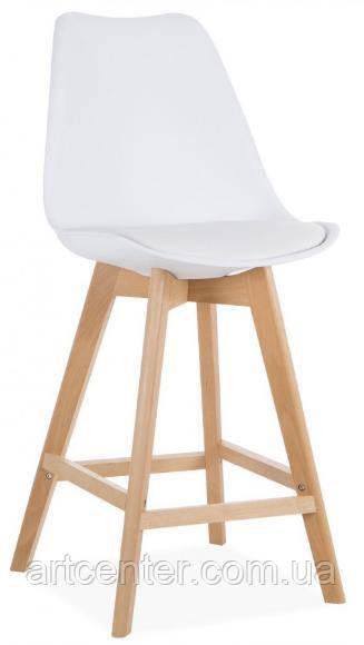 Стул для визажиста, стул для бара, стул для администратора, стул для кассира (ЭЛИОС белый)