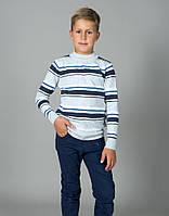 Свитер Many&Many для мальчика, серый, Орнамент/полоса.   , фото 1