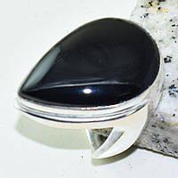 Копия Шикарное кольцо - черный оникс в серебре. Кольцо с черным ониксом., фото 1