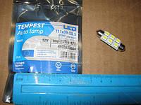 Лампа LED софитная  C5W 12V T11x39-S8.5 (6SMD,size 5050)   WHITE   tmp-25T11-12V