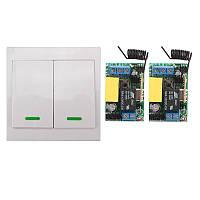 Беспроводной пульт дистанционного управления 220V на 2 реле и 2 выключателя