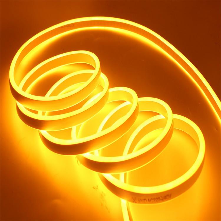 Світлодіодний неон Biom 220v золотий IP65