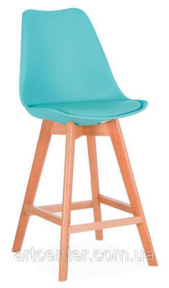 Стул для визажиста, стул для бара, стул для администратора, стул для кассира (ЭЛИОС голубой)