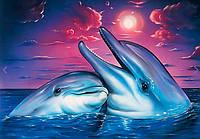 Алмазная вышивка Пара дельфинов 30 х 40 см (арт. FS786), фото 1