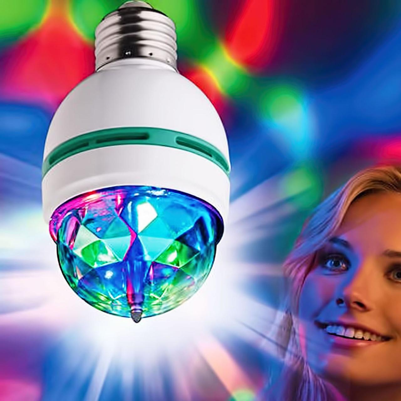 """Обертова диско лампа """"Cristal"""" для вечірок."""