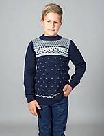 Свитер Many&Many для мальчика-подростка, тёмно-синий.