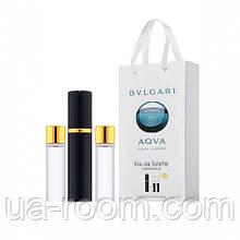 Мини-парфюм мужской Bvlgari Aqva Pour Homme, 3х15 мл