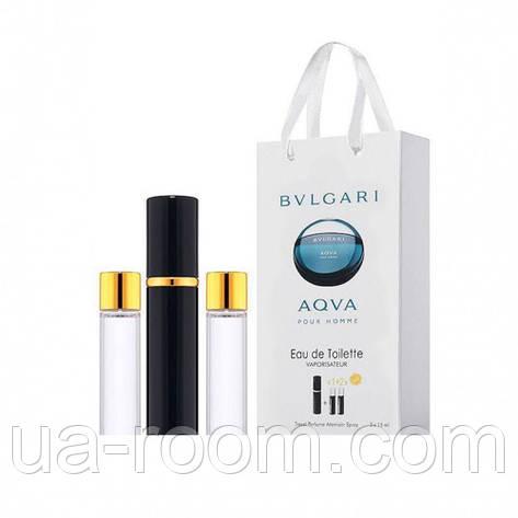 Мини-парфюм мужской Bvlgari Aqva Pour Homme, 3х15 мл , фото 2