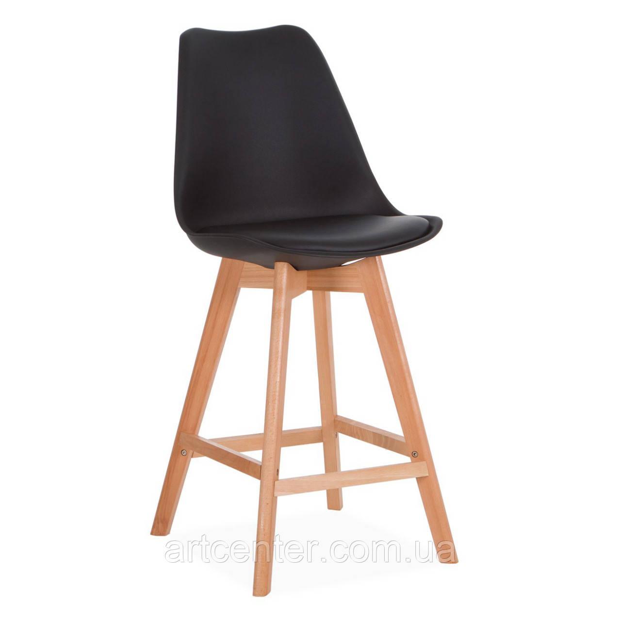 Стілець для візажиста, стілець для бару, стілець для адміністратора, стілець для касира (ЕЛІОС чорний)