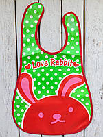 """Слюнявчик с карманом """"Love Rabbit"""", фото 1"""