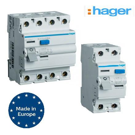 Устройства защитного отключения ( УЗО ) Hager