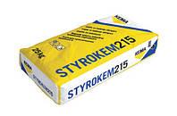 Клей на цементній основі для приклеювання пінополістирольних плит STYROKEM 215