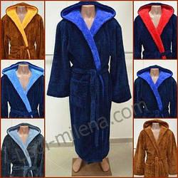 Мужской махровый длинный халат 46-66 р-ры