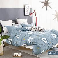 Комплект постельного белья Bella Villa сатин Евро голубой