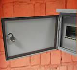 Щит освітлення ШМР-А-Н-12 герметичний металевий бокс на 12 модулів навісний, фото 5
