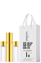 Мини-парфюм мужской Carolina Herrera 212 VIP Men, 3х15 мл