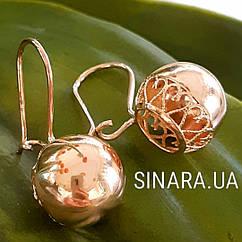 Золотые серьги Шарики - Золотые серьги без камней
