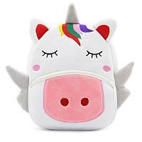 Детский велюровый рюкзак Единорог