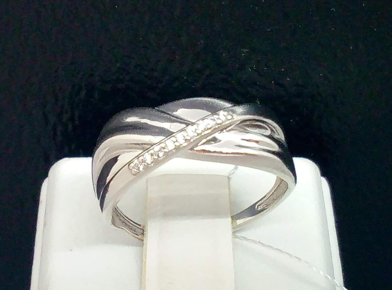 Серебряное кольцо с фианитами. Артикул КВ1182(М)с 16,5
