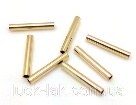 Трубочки, разделители для бижутерии, набор 10 шт., 3х40 мм