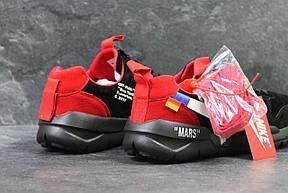 Мужские кроссовки  NIKE off White Mars,черные с красным, фото 3