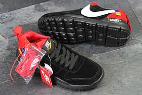 Мужские кроссовки  NIKE off White Mars,черные с красным, фото 2