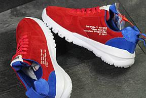 Мужские кроссовки  NIKE off White Mars,красные с белым, фото 2
