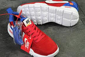 Мужские кроссовки  NIKE off White Mars,красные с белым, фото 3