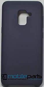 Силиконовый Чехол для Samsung Galaxy A5 2018 Silicone Case (Темно-синий)