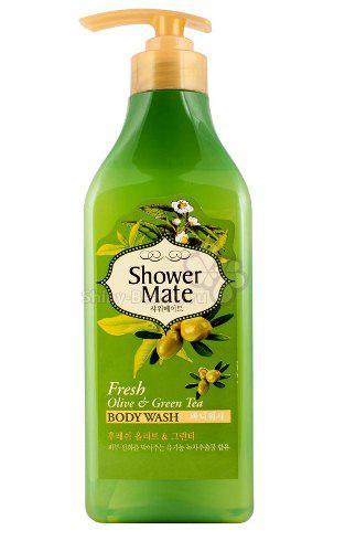 Гель для душа  Оливки и зеленый чай Shower Mate