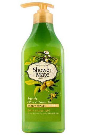 Гель для душа  Оливки и зеленый чай Shower Mate, фото 2