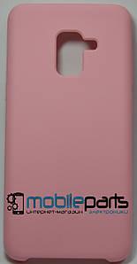 Силиконовый Чехол для Samsung Galaxy A5 2018 Silicone Case (Розовый)